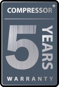 5 лет гарантии на компрессор