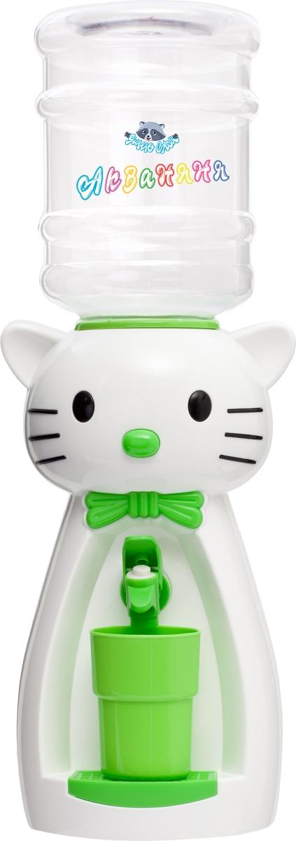 Раздатчик для воды Диспенсер «Кошка» (белая с салатовым)