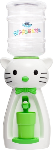 Диспенсер «Кошка» (белая с салатовым)